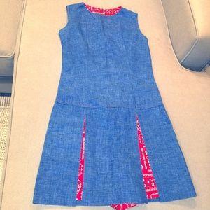 Vintage denim and plaid dress/romper